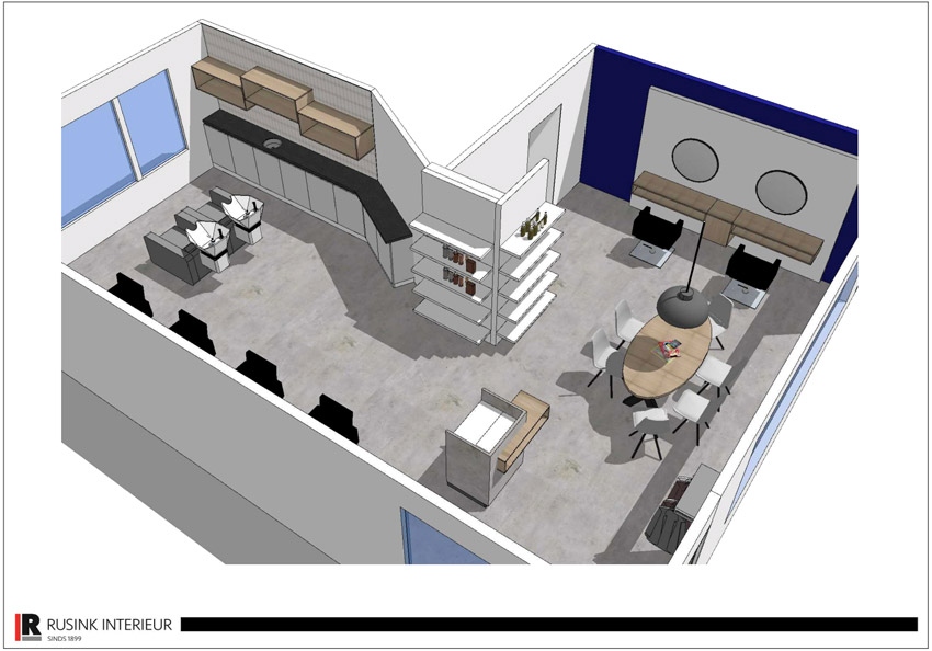 interieurbouw 3d tekening