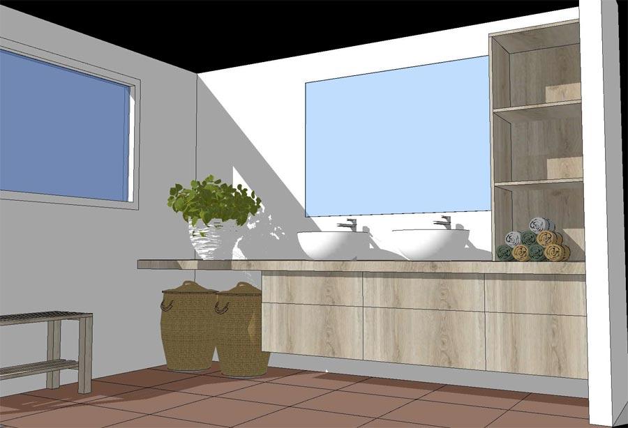 Badkamer interieur 3D