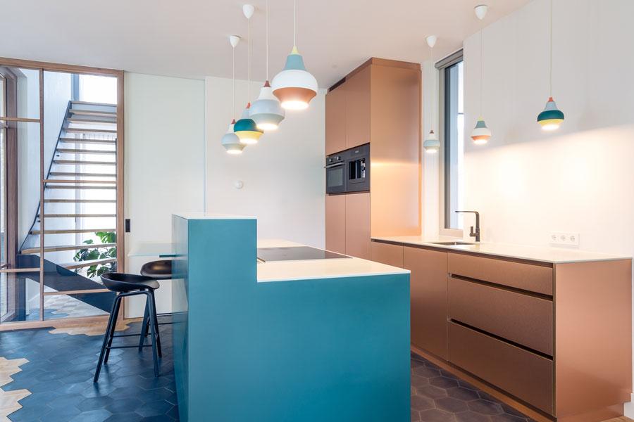 maatwerk keuken koper kleur
